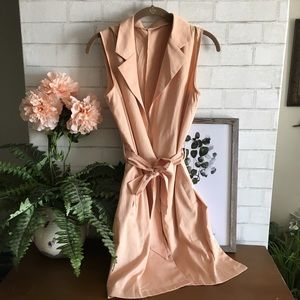 🍃🌸{She In}: Peach Tie Vest🌸🍃